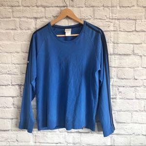 ADIDAS VINTAGE Long Sleeve Blue Tee 3...D-91074